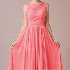 Chiffon Lace A-Line Flr-length Occasion Dress Sz.8